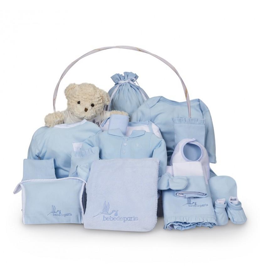 Canasta Bebé Clásica Ensueño Azul