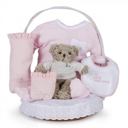 Canasta Bebé Clásica Esencial Rosa