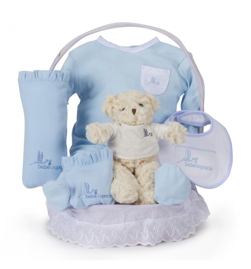 Canasta Bebé Clásica Esencial  Azul