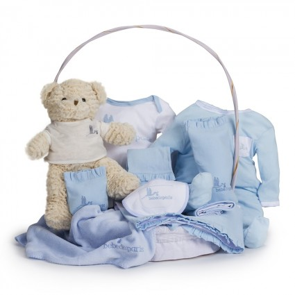 Canasta Bebé Clásica Azul