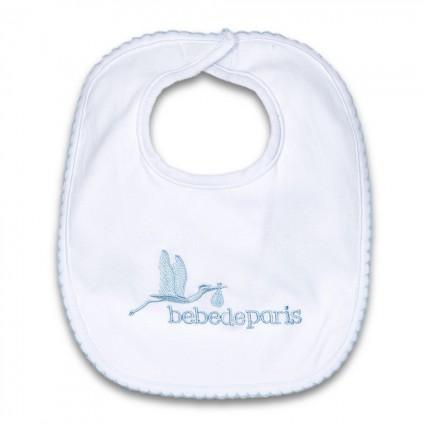 Babero Bebé Algodón Azul