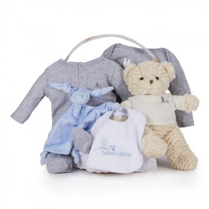Canasta Bebé Casual Esencial Azul