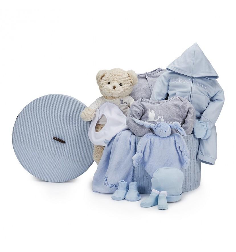 Canasta Bebé Casual Plena Azul