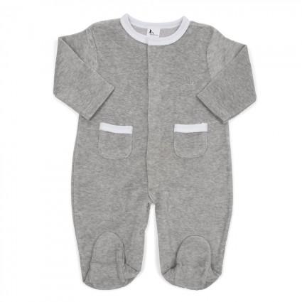 Pijama Bebé Suave Gris