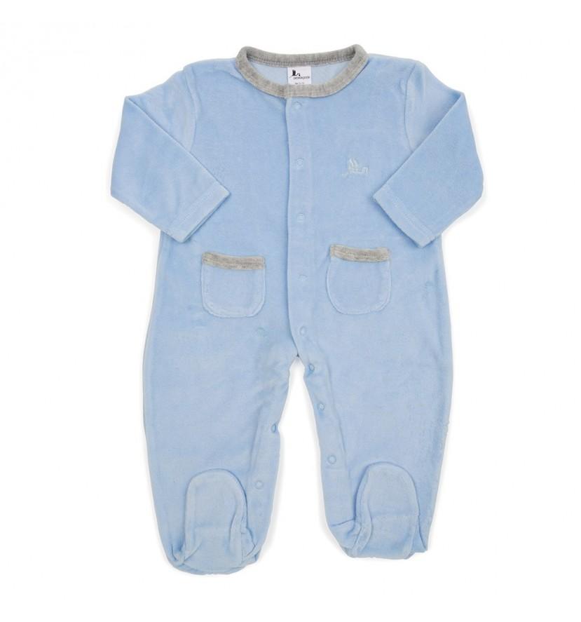 Pijama Bebé Suave Azul