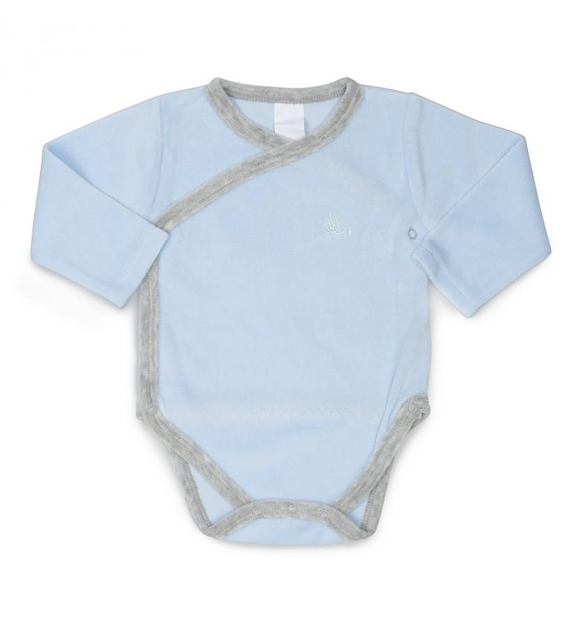 Body Bebé Suave Azul
