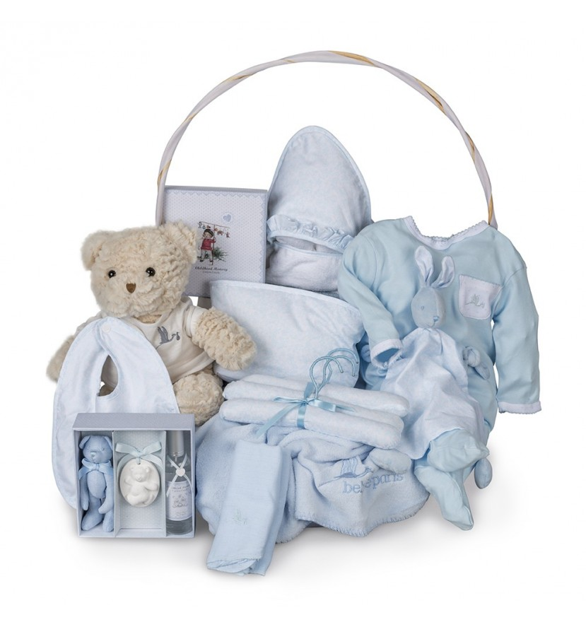 Canasta Bebé Vintage Ensueño Azul