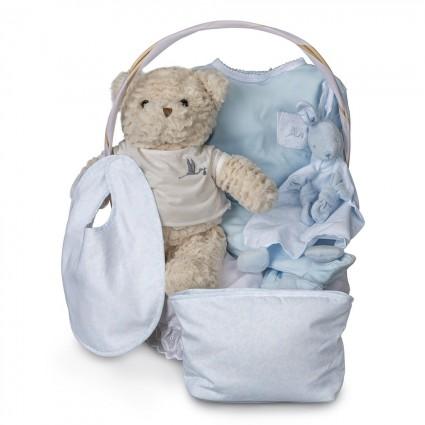 Canasta Bebé Vintage Esencial Azul