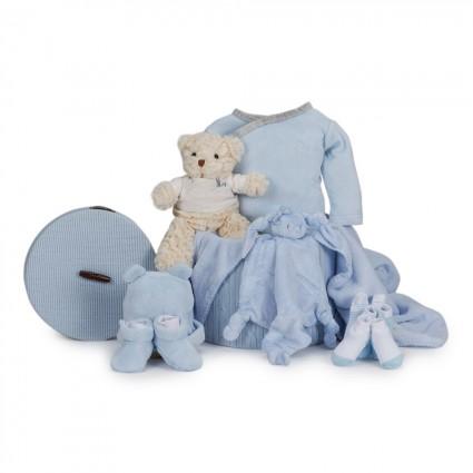 Canasta Bebé Velour Esencial Azul