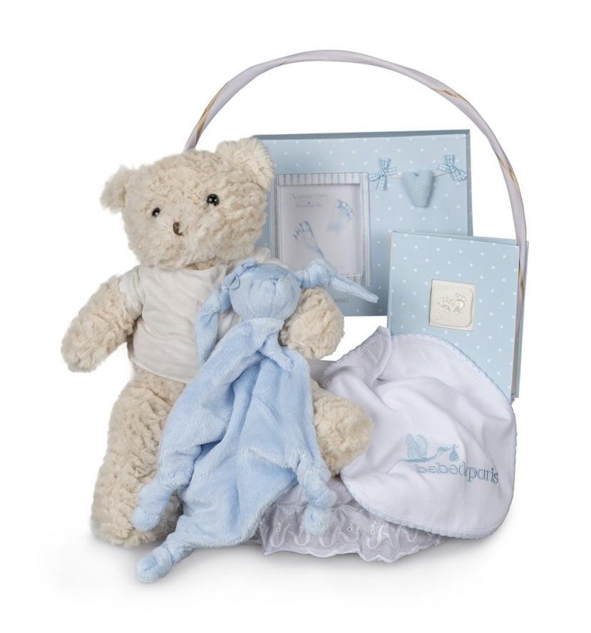 Canasta Bebé Memories Esencial Azul