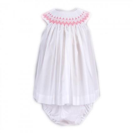 Clásico Vestido Bebé Niña Rosa