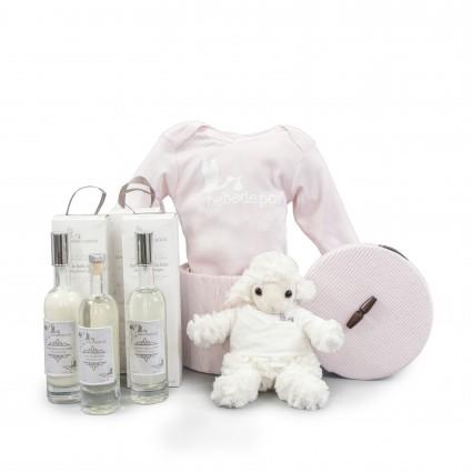 Canasta Cosmética Bebé  Esencial Rosa